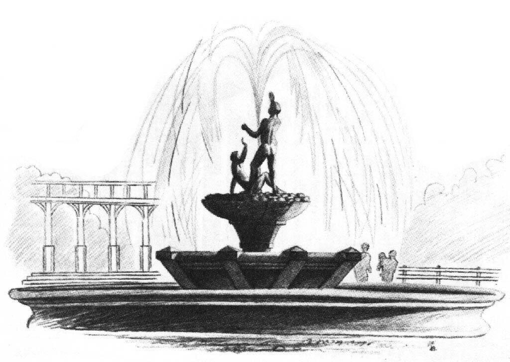 Картинки фонтаны карандашом